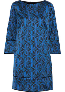 Elie Tahari Woman Esmarella Printed Satin Mini Dress Blue