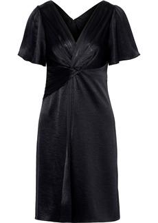 Elie Tahari Woman Silvana Twist-front Satin Dress Black