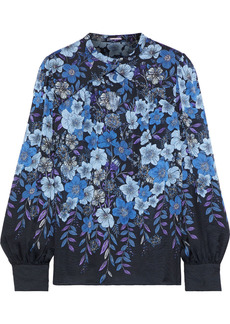 Elie Tahari Woman Siobhan Floral-print Silk-chiffon Blouse Black