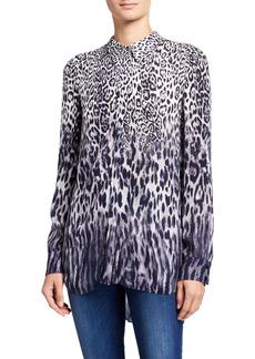 Elie Tahari Ingunn Animal-Print Button-Down Shirt