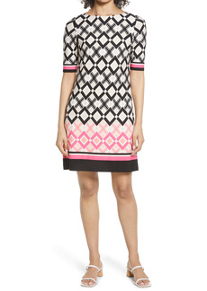 Eliza J Geo Print Sheath Dress