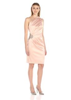 Eliza J Women's One Shoulder Stretch Satin Dress