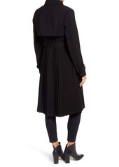 Ellen Tracy Pleated Trench Coat