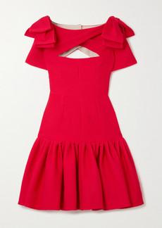 Emilia Wickstead Bow-detailed Cutout Cloqué Mini Dress