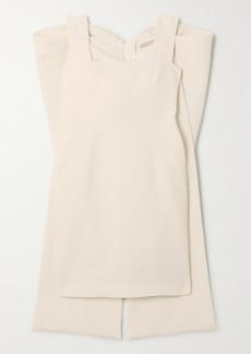 Emilia Wickstead Drusilla Bow-detailed Cloqué Mini Dress