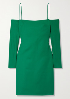 Emilia Wickstead Maida Cold-shoulder Wool Mini Dress