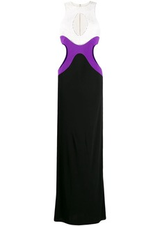 Emilio Pucci colour block evening gown
