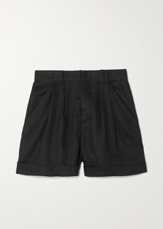Equipment Boyde Pleated Linen Shorts