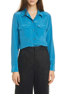 Equipment Slim Signature Long Sleeve Silk Shirt