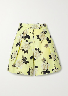 Erdem Howard Floral-print Cotton-faille Shorts