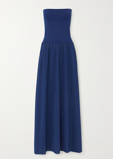 Eres Ankara Convertible Cotton And Stretch-jersey Maxi Dress