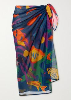 Eres Urchin Printed Silk-chiffon Pareo