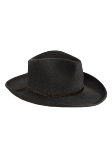 Women's Eric Javits Wool Western Hat - Black