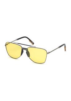 Ermenegildo Zegna 58mm Geometric Sunglasses