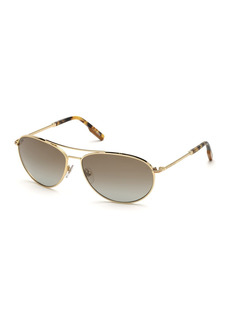 Ermenegildo Zegna 62mm Pilot Sunglasses