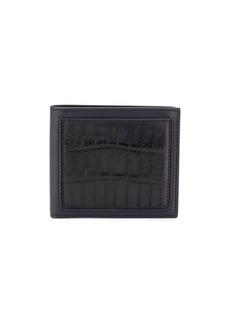 Ermenegildo Zegna crocodile-effect bi-fold wallet
