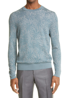 Ermenegildo Zegna Floral Silk & Wool Blend Sweater