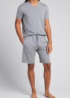 Ermenegildo Zegna Men's Modal-Nylon Pajama Shorts