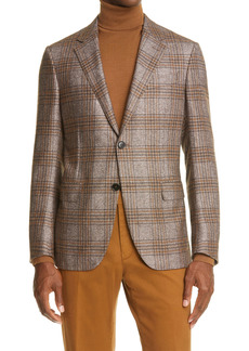 Ermenegildo Zegna Milano Easy Plaid Silk & Cashmere Sport Coat