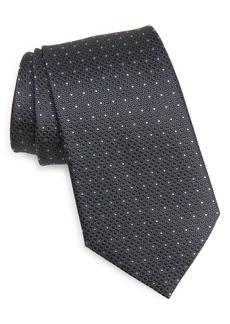 Ermenegildo Zegna Rasi Neat Dot Silk Tie