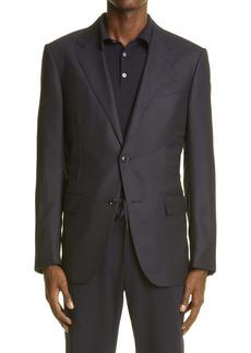 Ermenegildo Zegna Regular Fit Stretch Wool & Silk Sport Coat