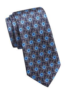 Ermenegildo Zegna Floral Silk Tie