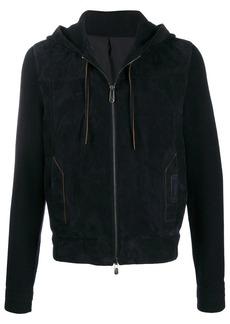 Ermenegildo Zegna knitted sleeved hooded jacket