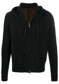 Ermenegildo Zegna lamb skin zip hoodie