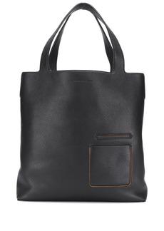Ermenegildo Zegna leather shopper tote