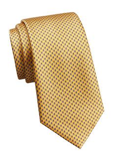 Ermenegildo Zegna Micro-Print Silk Tie