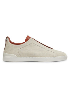 Ermenegildo Zegna Mixed Cotton Triple Stitch Sneakers