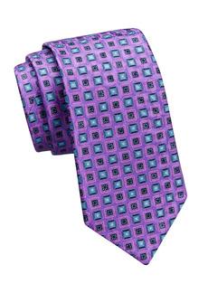 Ermenegildo Zegna Square-Print Silk Tie