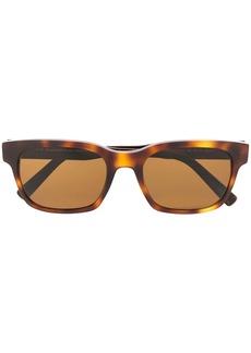 Ermenegildo Zegna tortoiseshell square frame sunglasses