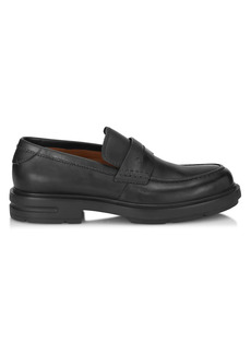 Ermenegildo Zegna Verona Leather Penny Loafers