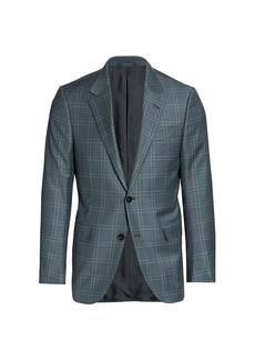 Ermenegildo Zegna Windowpane Wool Sportcoat