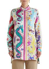 Etro Giannutri Print Silk Blouse