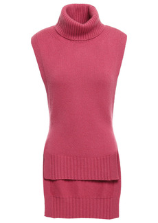 Etro Woman Tie-back Knitted Turtleneck Vest Pink