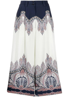 Etro paisley-print culottes