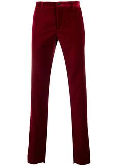 Etro velvet straight-leg trousers