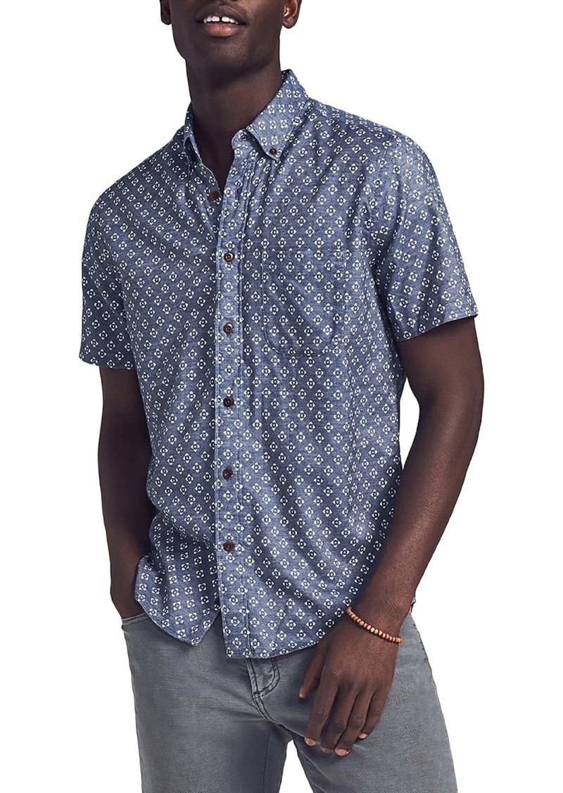 Faherty Brand Playa Short Sleeve Button-Up Shirt