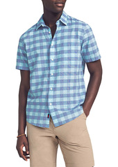 Faherty Cloud Check Short Sleeve Button-Up Shirt