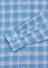Faherty Cloud Summer Blend Plaid Button-Up Shirt