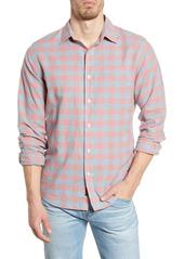 Faherty Cloud Summer Blend Regular Fit Stretch Check Button-Up Shirt