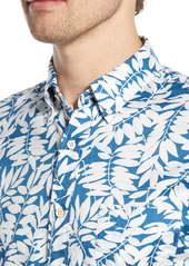 Faherty Everyday Regular Fit Short Sleeve Button-Down Shirt