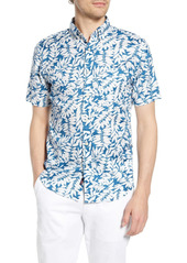 Faherty Everyday Regular Fit Short Sleeve Button-Down Shirt