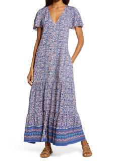 Faherty Brand Orinda Floral Border Print Maxi Dress