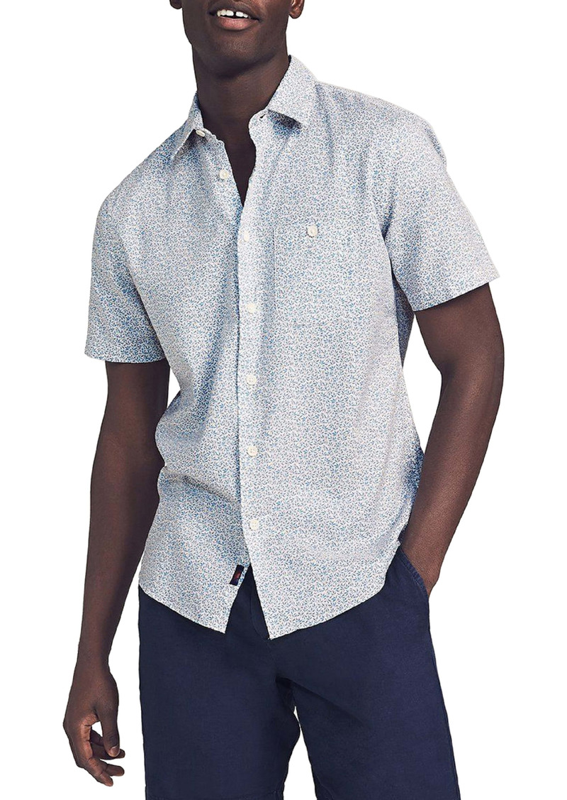 Faherty Brand Playa Print Short Sleeve Button-Up Shirt