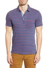 Faherty Breton Stripe Pocket Polo