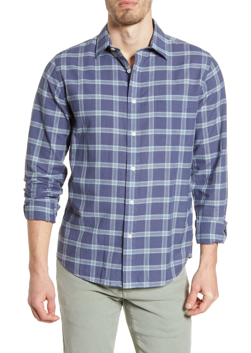 Faherty Cloud Summer Blend Check Button-Up Shirt