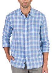 Faherty Cloud Summer Blend Plaid Button-Up Shirt